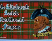 Vintage 60s Rob Roy Scotch Shortbread Tin Box
