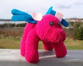 Swine Flew plush- sock animal- pig with wings- adorable