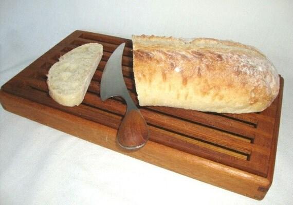 Vintage Wood Cutting Board Bread Tray Kalmar Teak