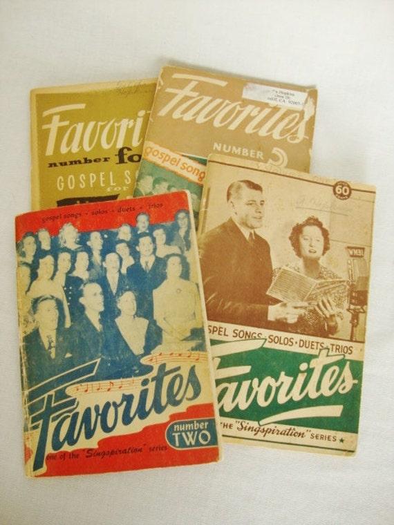4 vintage singspiration gospel song books 1940s