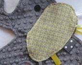 Harper Elephant Sensory Security Blanket Lovey