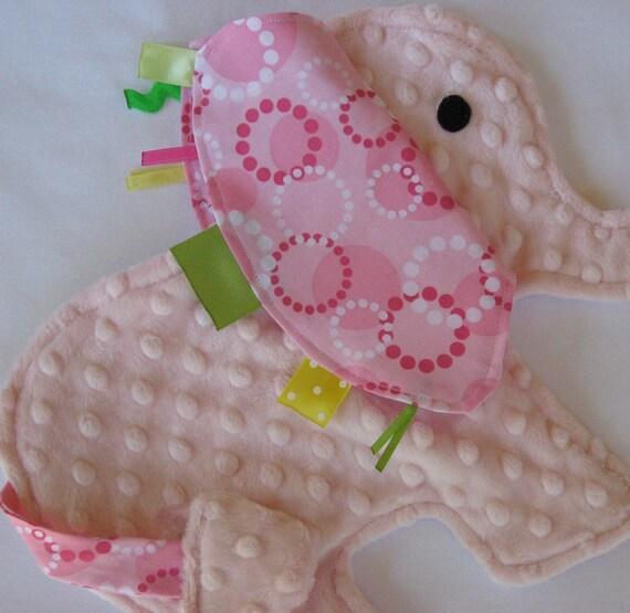 Dotty Pink Elephant Security Sensory Lovey