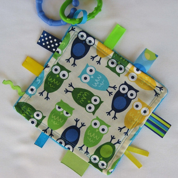 Blue Hoot Owls Mini Touch and Feel Sensory Toy