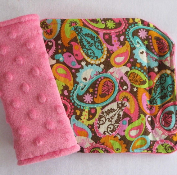 bright paisley reversible car seat strap covers. Black Bedroom Furniture Sets. Home Design Ideas