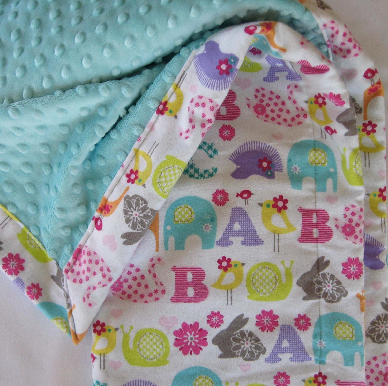 ABC Animal Alphabet Baby To Toddler Blanket By