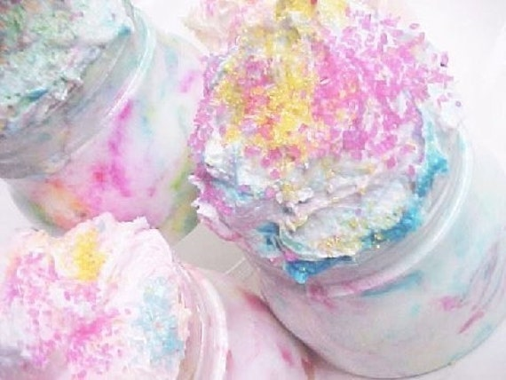 Girly Girls Luv  Cotton Candy-Whipped Cake Frosting Sugar Scrub nt.wt.8oz. of Girly Girl Fun