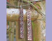 HANDSTAMPED COPPER EARINGS