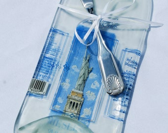 Statue of Liberty Wine Bottle Cheese Board - NYC New York City Home Decor