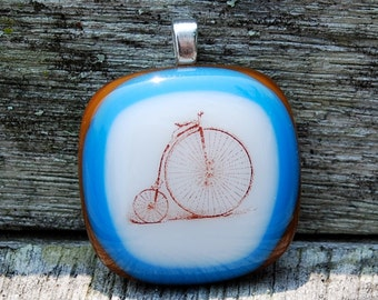 SALE Bicycle Pendant - High Wheeler  Vintage Style Bicycle - Bike Jewelry