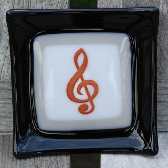 Music - Little Fused Glass Dish