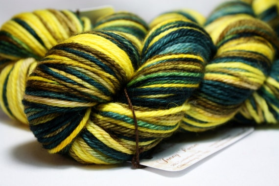 Dr. Gadget--hand dyed worsted weight, merino superwash (218yds/125gm)