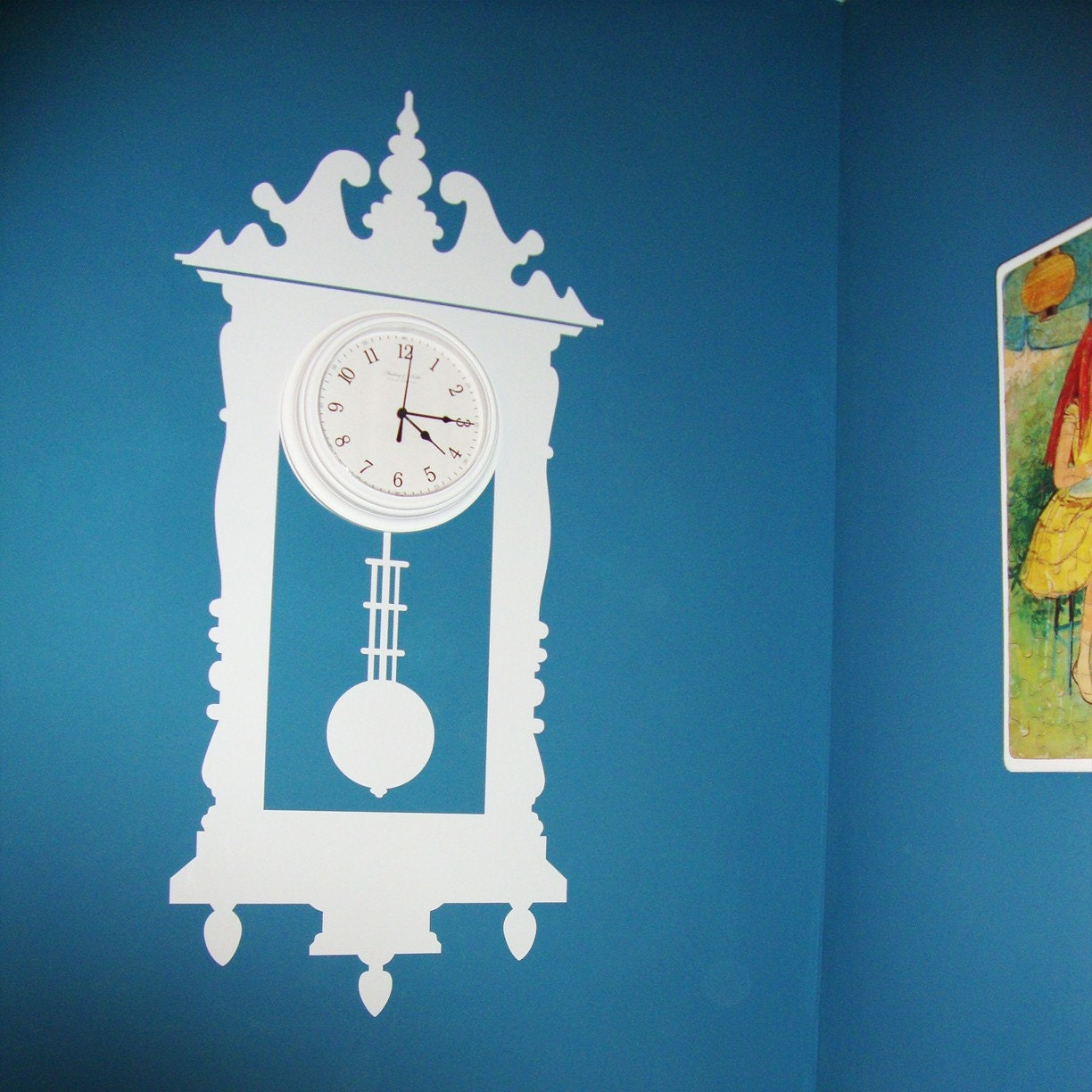 TicToc Antique Wall Clock Vinyl Wall Decal Graphic - Vintage wall decals