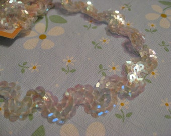 Shop Closing Sale - 3.5 Yards Glitzy Sequin Trim - S Shaped