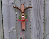 SALE - Paintstick Reindeer Christmas Decoration