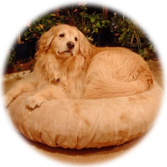 BIG DOG 46in Air Bed Claw Nail-Proof Canvas-w-Caramel Swirl