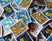 New Zealand postal ephemera - 4 native flower mix - 40 total