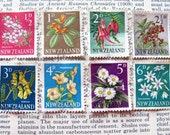 New Zealand flower partial set - postage stamp ephemera