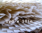 vintage pleated paper - 1 yard by 10 inch - ephemera
