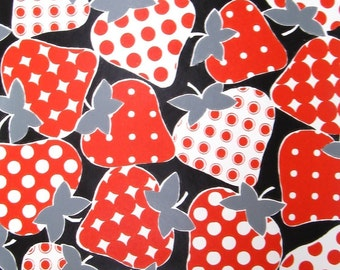 vintage wallpaper - super strawberries - per yard - FOLDED