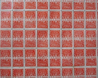 100 trading saver thrift stamps - like S and H green stamps - 100 red