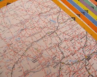 Australian atlas - colorful vintage atlas pages - Australia - 20 maps