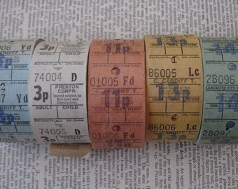 vintage tickets - 35 - UK bus tickets