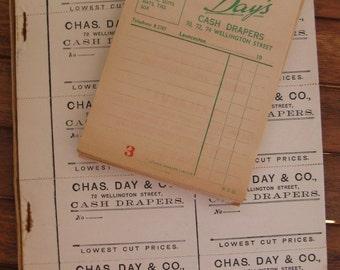 vintage ephemera - Tasmanian store receipts