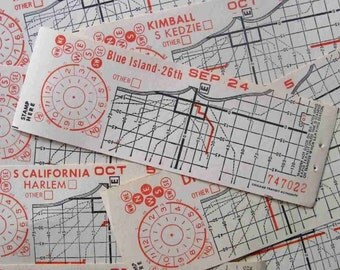 old giant trolleybus tickets - 4 - Chicago