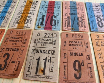 vintage tickets - 10 - UK  bus tickets