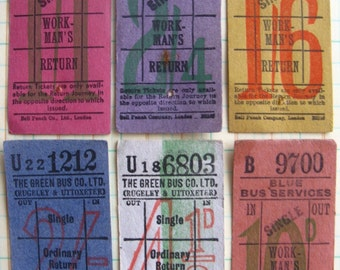 vintage tickets - 6 - UK  bus tickets