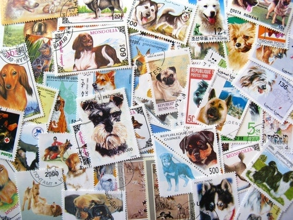 world postal ephemera - dogs