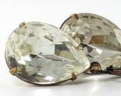Wedding Jewelry Bridal Earrings Diamond Jewel Earrings - April Birthstone Earrings - Crystal Clear - Diamond Alternative - Sweden