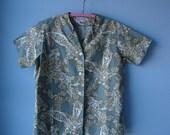 vintage 1950s blouse //  cotton blouse