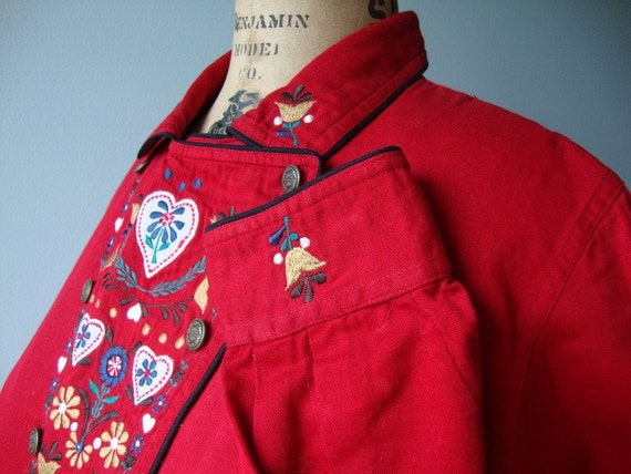 Vintage Western Shirt Rockabilly Red