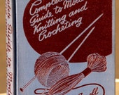 vintage book-complete guide to modern knitting and crochet