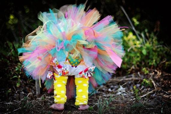 Tallulah HOOTs Birthday Tutu 16 waist 8 length fits most 6 9 12 mth baby girls 1st Birthday Photo Prop Birthday Gift