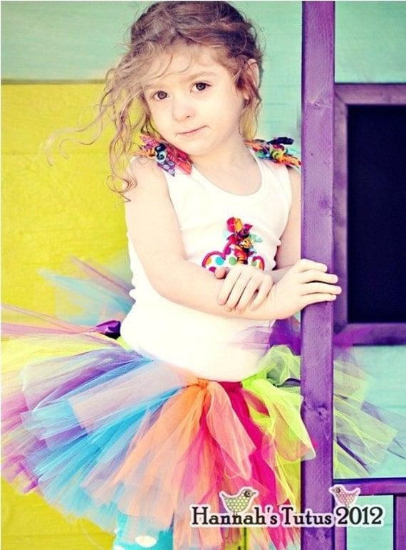 Tutu Bright Polka Dot Jazz TUTU READY2SHIP 17 waist 9 length fits 1 to 2 yr olds girls 1st Birthday Candyland Party