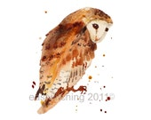 Watercolor Owl print, OWLS, Owl lover gift, owl painting, kids decor, watercolour painting