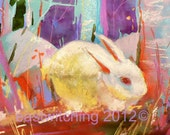 EASTER Bunny print - 8x10  inches - Cottontails First Easter