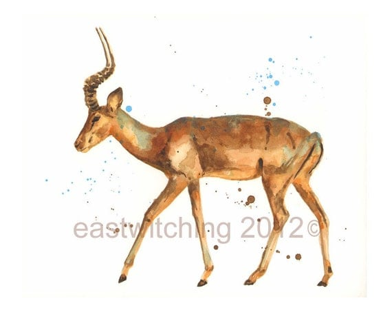 ORIGINAL IMPALA Painting, african art, safari animal, animal paintings