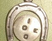 Vintage Estate Sterling HORSESHOE I LOVE YOU SPIN Charm