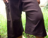 BroWn CottoN THAI Fisherman Wrap Pants PERFECT for All Size.......3/4 Length