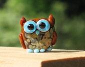 Ozzy the Owl Lampwork Bead