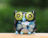 Octavia the Owl Lampwork Bead
