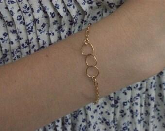 Gold Chain Bracelet, Thin Gold Bracelet, Thin Gold Jewelry