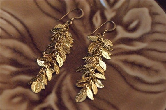 Falling Leaves, Leaves, Leaf Earrings