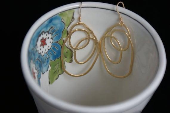 Simple Modern, Gold Butterfly Wing Earrings