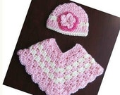 PATTERN in PDF -- Crocheted toddler Poncho  shawl-- 5T - Preteen