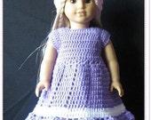 PATTERN in PDF crocheted doll dress fits American girl, Gotz, My twin or similar 18 inches dolls -- Doll Dress 14