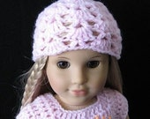 PATTERN in PDF -- crocheted doll hat/beanie for American girl, Gotz or similar 18 inches dolls (Doll Hat 16)